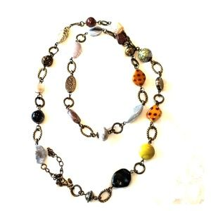 Natural stone 40.5 inch necklace